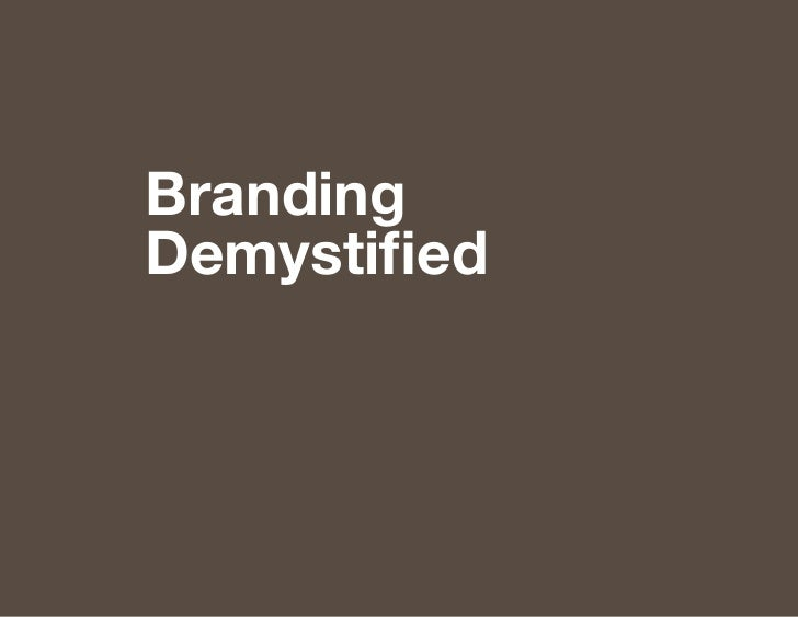 BrandingDemystified