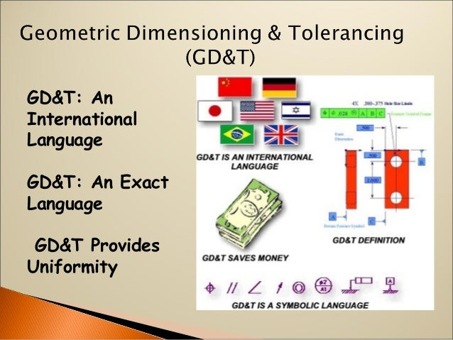 GD&T: An International Language GD&T: An Exact Language GD&T Provides Uniformity