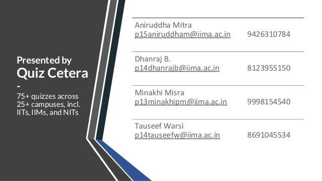 Mela Quiz Finals - IIM Ahmedabad Chaos 2020 - by Quiz Cetera Slide 2