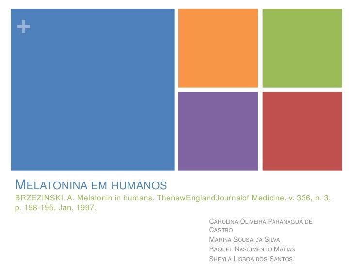 Melatonin in Humans