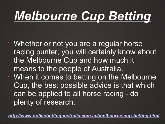 How to place a bet on the Melbourne Cup?