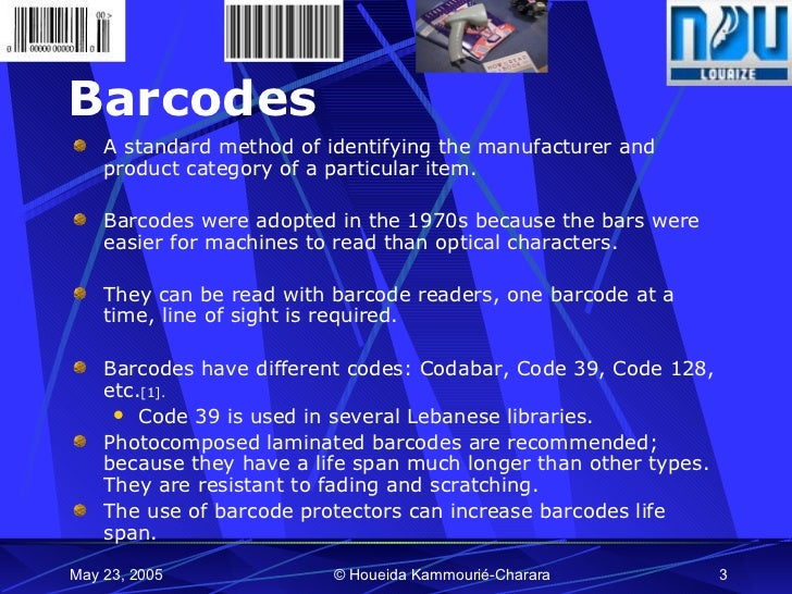 Technology and Libraries:RFID vs  Barcodes