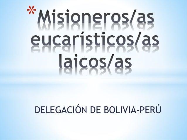 *  DELEGACIÓN DE BOLIVIA-PERÚ