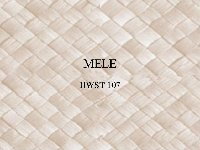 MELE HWST 107