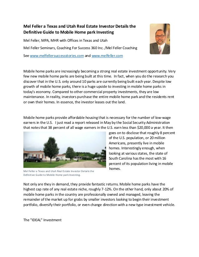 Mel feller a texas and utah real estate investor details the ... on business park, create your own theme park, mobile az, mobile games, midland texas water park, party in the park, mobile homes with garages, port aventura spain theme park, mobile media browser, sacramento water park, feather river oroville ca park, mobile homes clearwater fl, tiny house on wheels park, world trade park, mobile homes in arkansas, clear lake park, industrial park, rv park, mobile homes history,