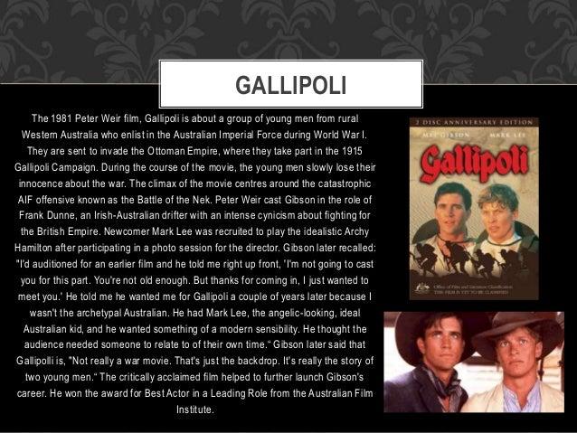 gallipoli film essay Music and movies essays: gallipoli - australian film review.