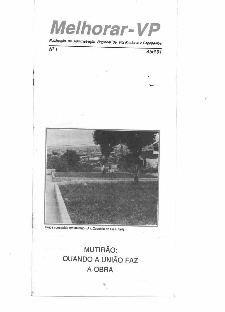 Melhorar VP Número 1 abril de 1991