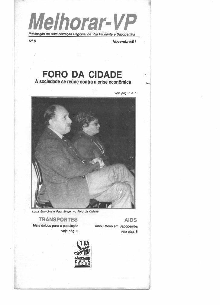 Melhorar VP Número  06 - Novembro de 1991