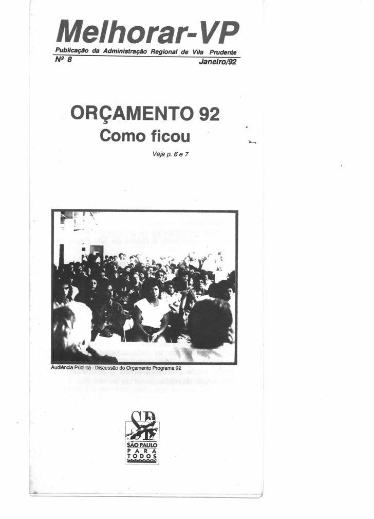 Melhorar VP Número 08 - Janeiro de 1992
