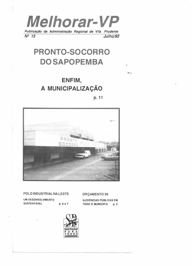 Melhorar VP número 12 - Julho de 1992