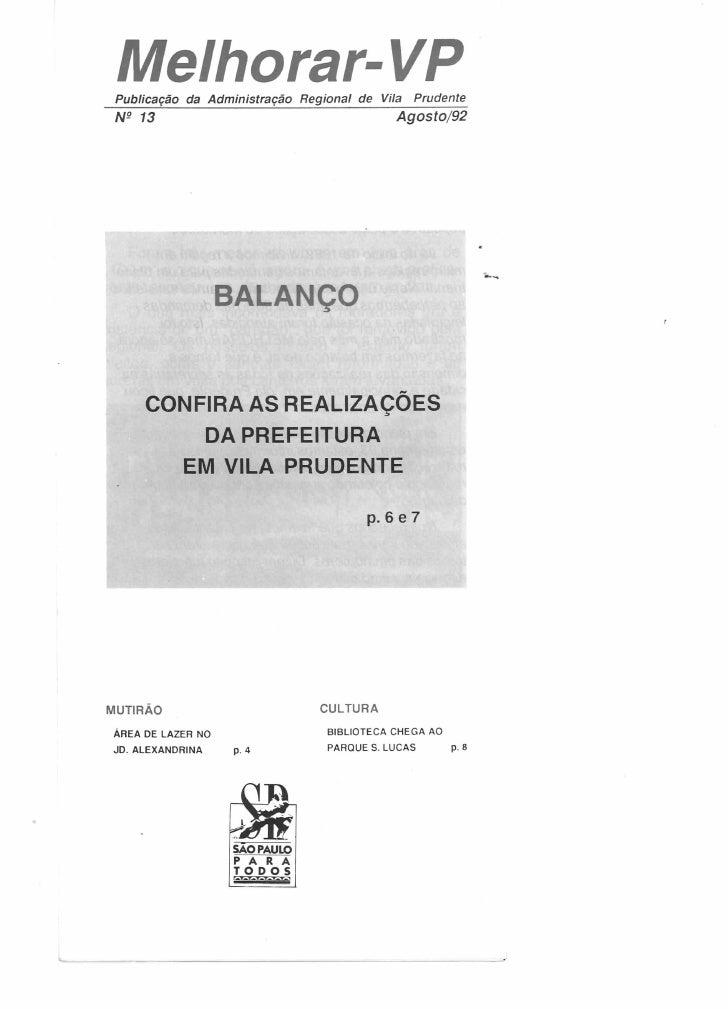 Melhorar VP Número  13 - Agosto de 1992