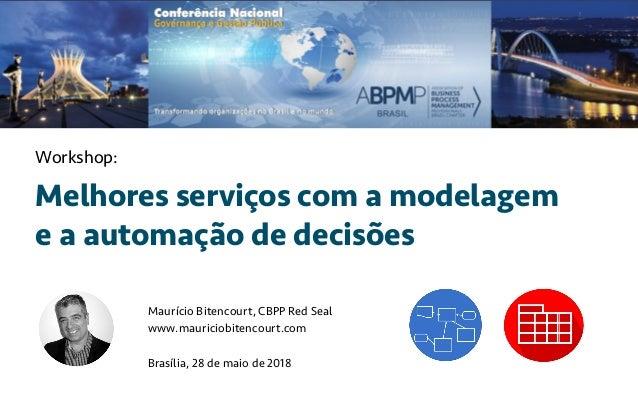 Melhores serviços com a modelagem e a automação de decisões Maurício Bitencourt, CBPP Red Seal www.mauriciobitencourt.com ...