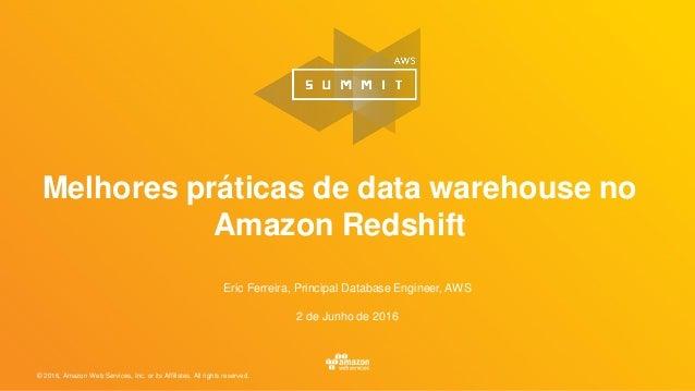 Melhores práticas de data warehouse no Amazon Redshift
