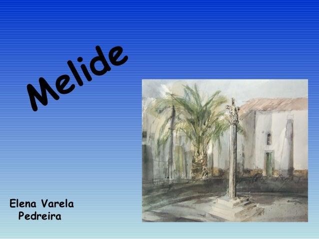 Elena Varela Pedreira Melide