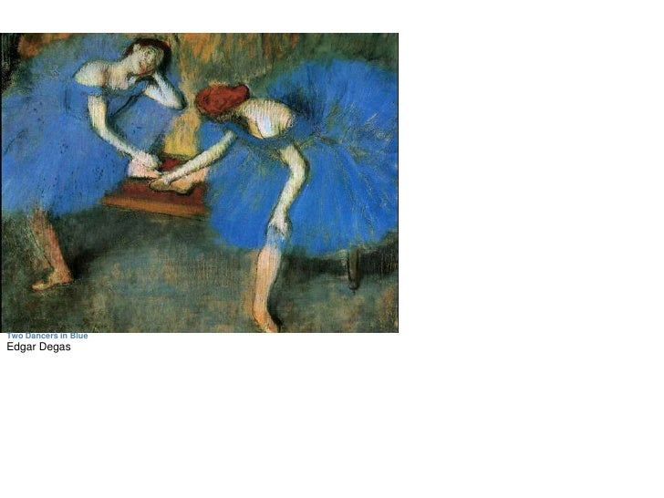 Two Dancers in Blue<br />Edgar Degas<br />