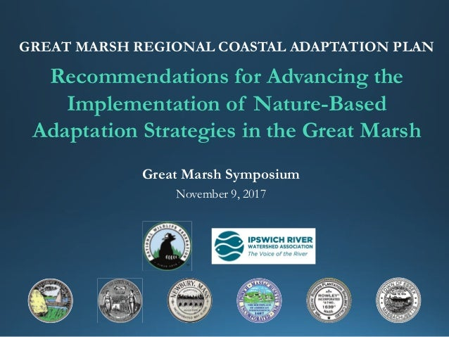 Recommendations for Advancing the Implementation of Nature-Based Adaptation Strategies in the Great Marsh GREAT MARSH REGI...