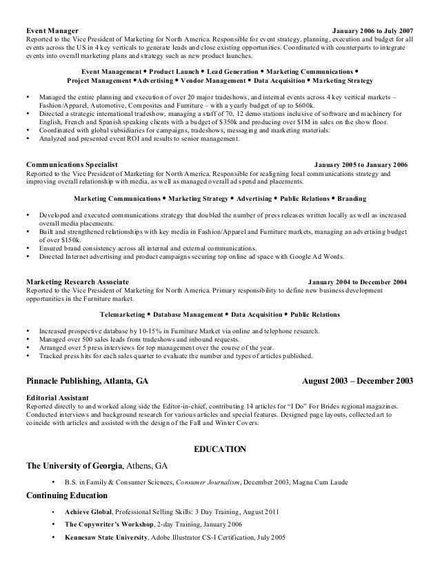 vice president marketing resume