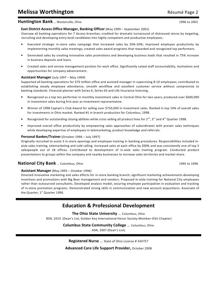melissa worthington resume