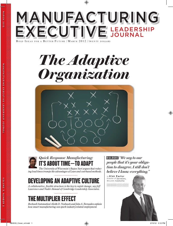 what can an organization do to foster an adaptive culture