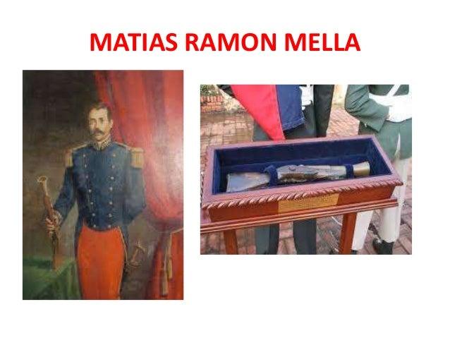 MATIAS RAMON MELLA • Al estallar la rebelión independentista la noche del 27 de febrero de 1844, Mella dispara su famoso t...