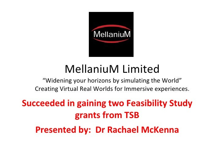 "MellaniuM Limited ""Widening your horizons by simulating the World"" Creating Virtual Real Worlds for Immersive experiences...."