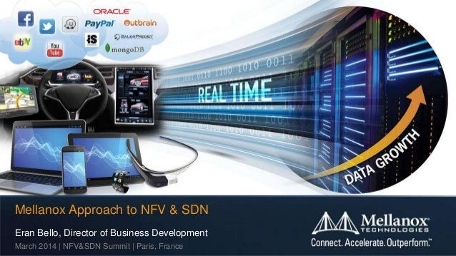 Eran Bello, Director of Business Development March 2014 | NFV&SDN Summit | Paris, France Mellanox Approach to NFV & SDN