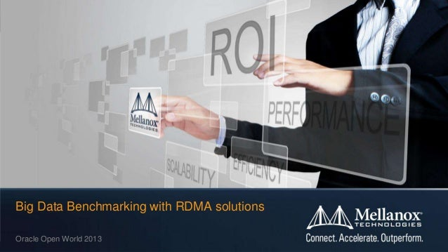 © 2013 Mellanox Technologies 1 Big Data Benchmarking with RDMA solutions Oracle Open World 2013