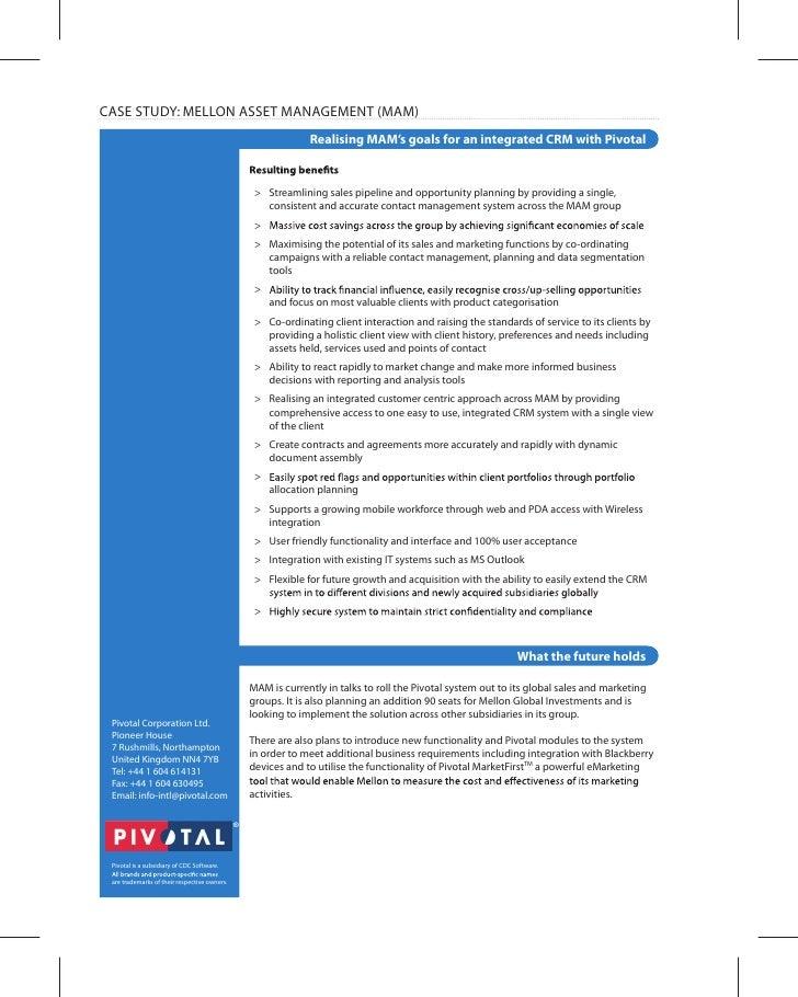 asset management case study pdf