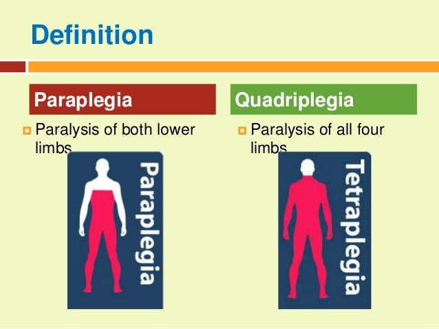 Mellss yr3 med para and quadriplegia