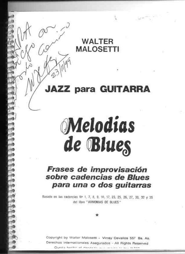 Melodias de blues   walter malosetti
