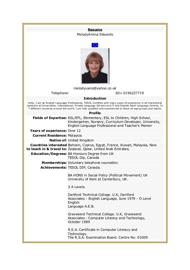 examples of a resume letter