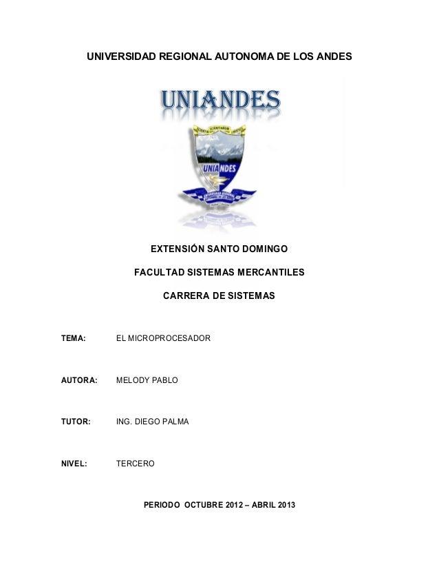 UNIVERSIDAD REGIONAL AUTONOMA DE LOS ANDES                       UNIANDES                    EXTENSIÓN SANTO DOMINGO      ...