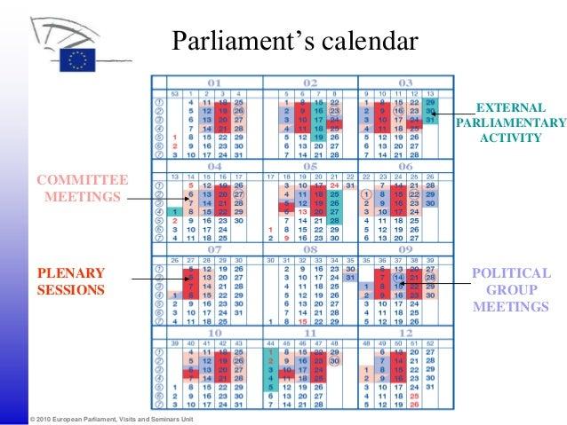 Calendar 2019 European Commission
