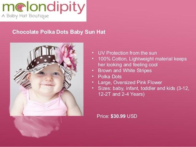 384992912e2 Chocolate Polka Dots Baby Sun Hat ...
