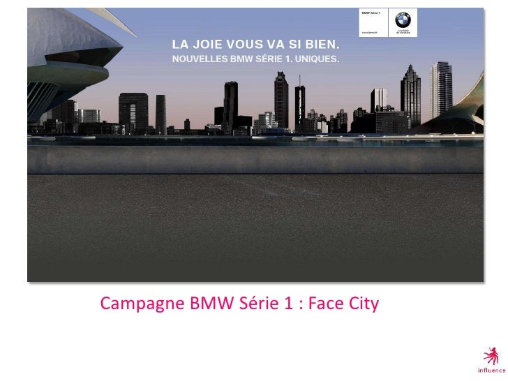 Campagne BMW Série 1 : Face City<br />