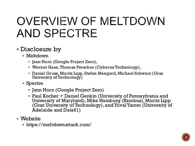 【HITCON FreeTalk 2018 - Spectre & Meltdown 漏洞原理說明與 POC 剖析】 Slide 3