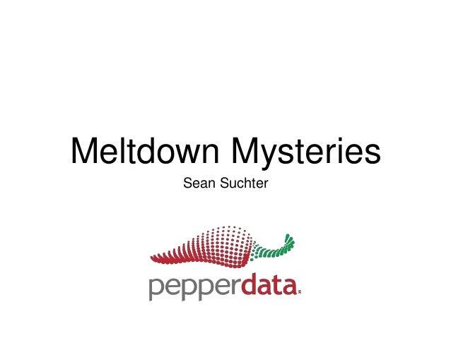 Meltdown Mysteries Sean Suchter