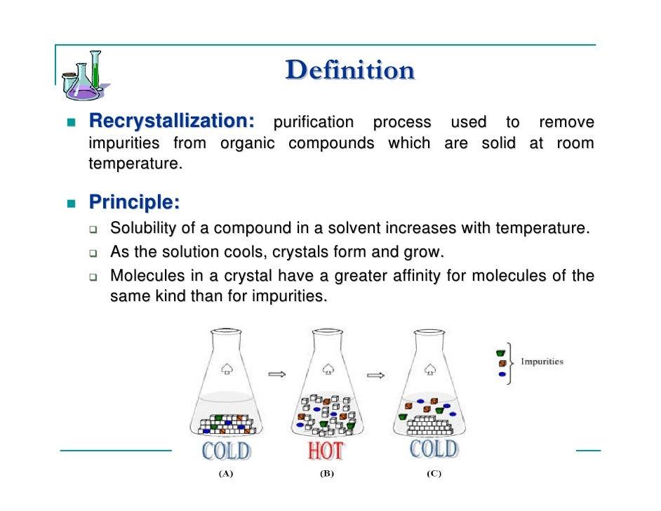 recrystallization of acetanilide using water as