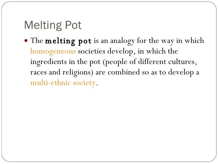 melting pot theory definition