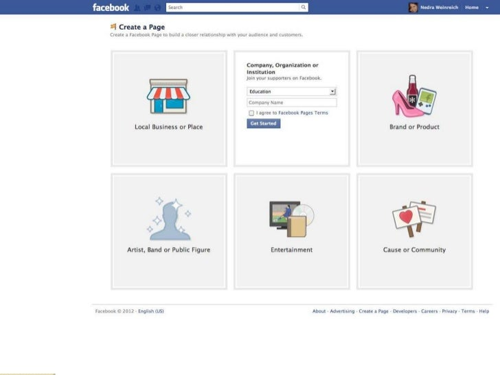 Facebook Page Content Offer interesting, shareable information Offer a variety of media – text  posts, photos, video, li...