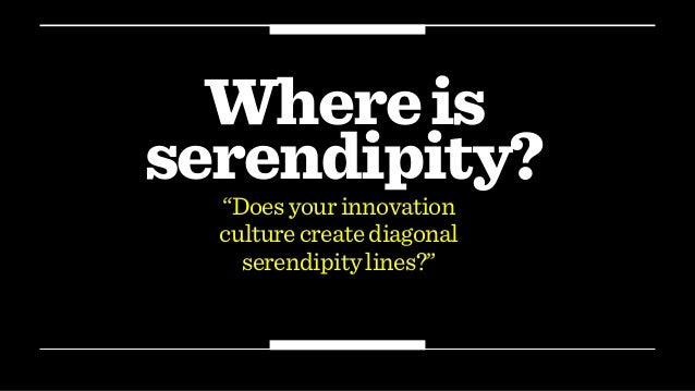 "Whereis serendipity? ""Doesyourinnovation culturecreatediagonal serendipitylines?"""