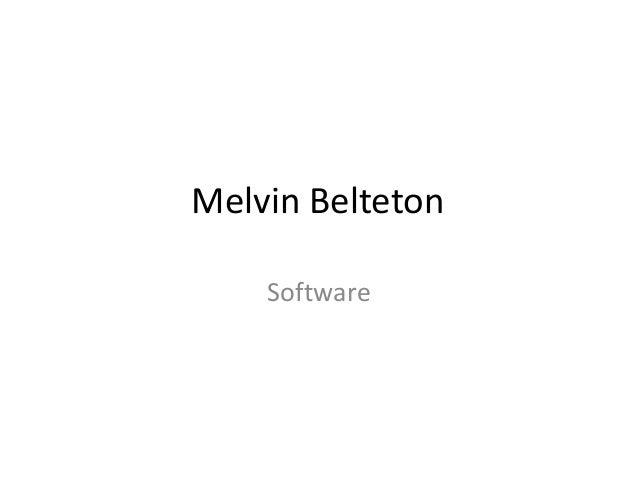 Melvin Belteton Software