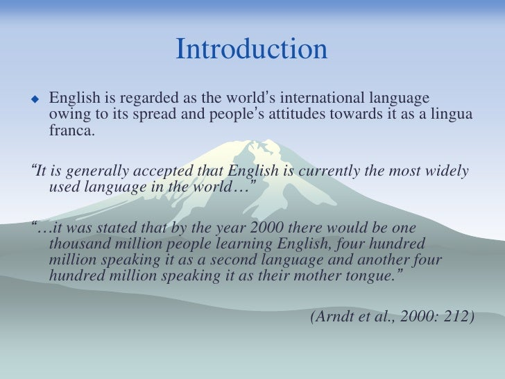 an introduction to the diversity in the english language It is now the usual term in english for the scientific study of language,  an introduction to language and linguistics breaking the language spell.