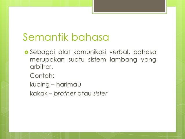 Memahami Dasar-Dasar Teori Makna Semantik Slide 2