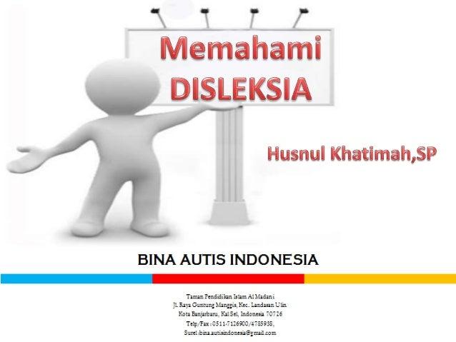 Koordinator Wilayah Kalimantan Selatan PELATIHAN KOMPETENSI TENAGA PENDIDIK PENDIDIKAN INKLUSIF