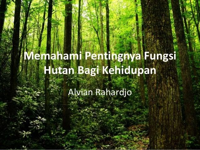 Memahami Pentingnya Fungsi Hutan Bagi Kehidupan Alvian Rahardjo