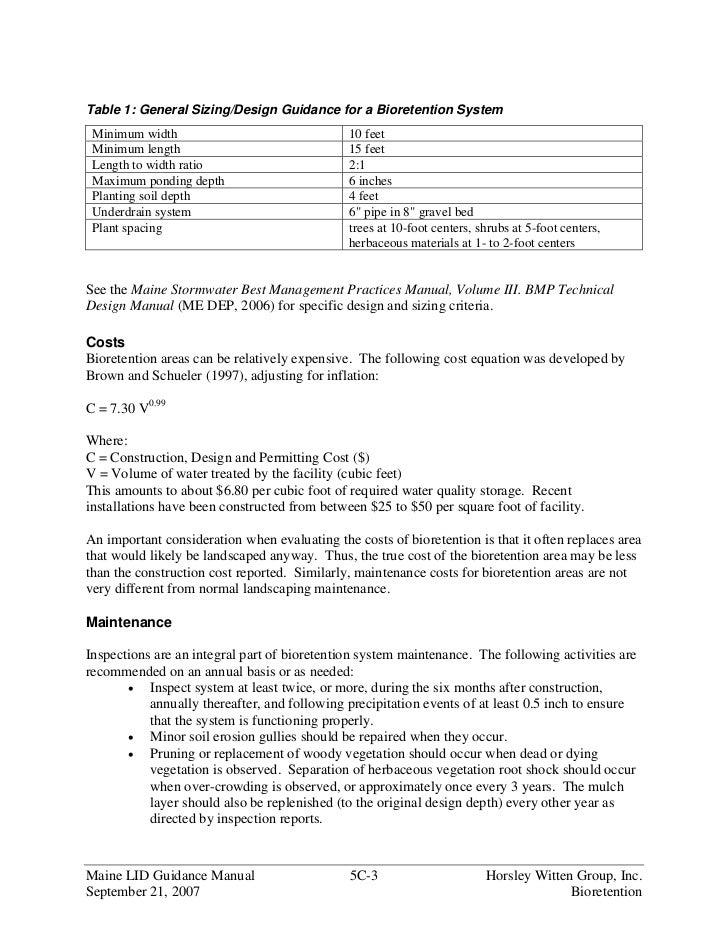 moecc low impact development stormwater management guidance manual