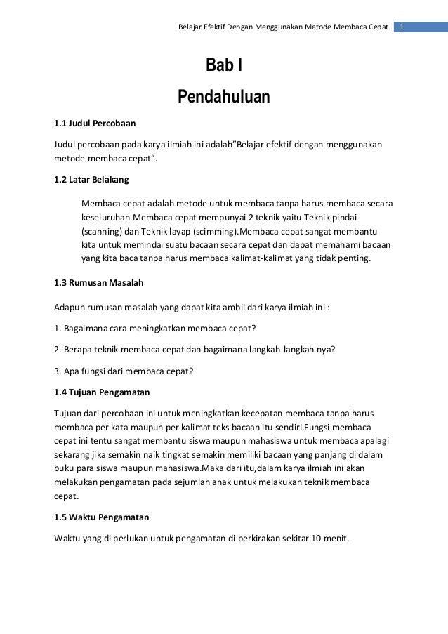 Judul Makalah Karya Ilmiah Bahasa Indonesia