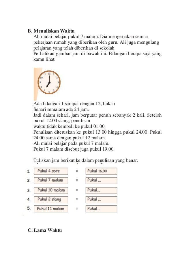 Matematika Kelas Ii Membaca Dan Menentukan Jam