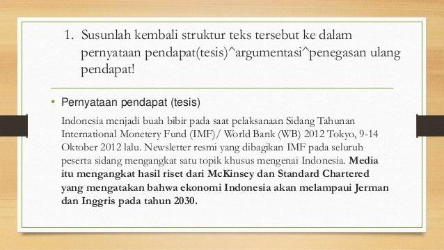 Membaca Teks Eksposisi Tentang Ekonomi Indonesia
